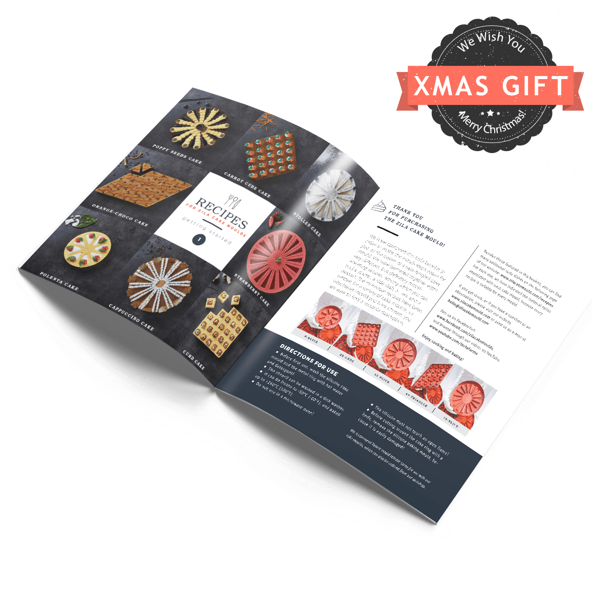 Zila cake moulds recipes booklet